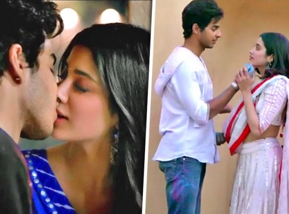 Janhvi and Ishaan Kiss Seen in 'dhadak' is trending in social media